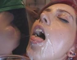 Now this Spanish chica swallows one amazing bowl full of cum!