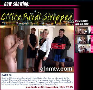 cfnmtv: Office Rival Stripped (Part 1-3)