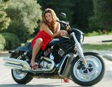 Rebecca Loos Posing on a Bike