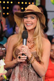 Denise Richards shows cleavage at MTV's Total Request Live